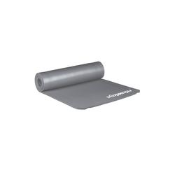 relaxdays Yogamatte Yogamatte 1 cm dick einfarbig grau