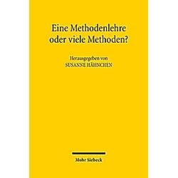 Eine Methodenlehre oder viele Methoden? - Buch