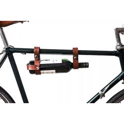 Gusti Leder Fahrrad-Flaschenhalter Chris F., Fahrrad Trinkflaschenhalter Getränkehalter Halterung