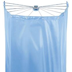 spirella Duschschirm Ombrella Breite 170 cm (Set), mit 12 Ösen, white, 200x170 cm; Duschspinne und Vorhang