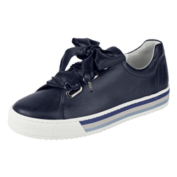 Sneaker mit breiten Schnürsenkeln blau 7,5 (41)