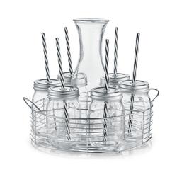 Glaskaraffe-/ Gläser-Set Zeller