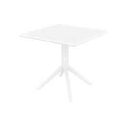 CLP Gartentisch Sky 80 cm, aus UV-beständigem Kunststoff weiß