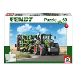 Schmidt Spiele Puzzle Fendt 1050 Vario m. Amazone Grubber Cenius, 60 Puzzleteile