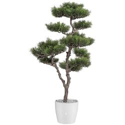 Kunstbaum Bonsai Zeder Bonsai, Creativ green, Höhe 90 cm, im Kunststofftopf
