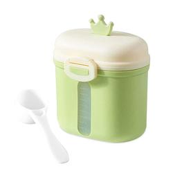 kueatily Aufbewahrungsbox Tragbares Milchpulver, Babymilchpulverbehälter, Milchpulverspender, BPA-frei, Milchpulveraufbewahrung, Milchpulverportionierer, Babymilchpulverdose grün