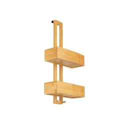 ONVAYA Duschregal Duschregal ohne Bohren, aus Bambus, Badregal zum Hängen, Duschablage aus Holz, Hängeregal für die Dusche, ohne Bohren