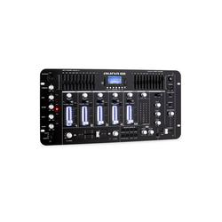 Auna Kemistry 3 B 4-Kanal-DJ-Mischpult Bluetooth USB SD Phono schwarz Party-Lautsprecher