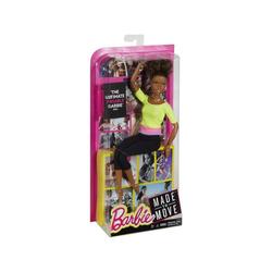 Mattel® Anziehpuppe Mattel DHL83 - Barbie - Made to Move - Puppe mit gelbem Top