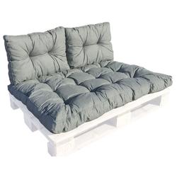 GMD Living Sitzkissen PREMIUM PALETTE, 1 Sitzkissen, grau, 12 cm Polsterhöhe grau 1 Sitzkissen, grau - 80 cm x 120 cm