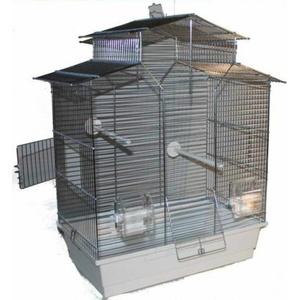 Super Vogelkäfig Vogelbauer Wellensittich Kanarien Voliere Vogelhaus Iza ohne.