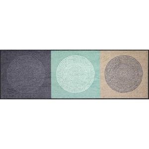 Salonloewe Fußmatte grau/mint Größe 60x180 cm