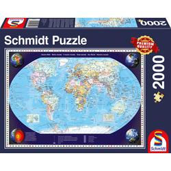 Schmidt Spiele Puzzle Unsere Welt blau Kinder Ab 12-15 Jahren Altersempfehlung Puzzles
