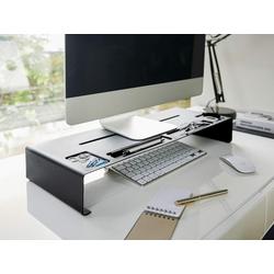 Yamazaki Tower Monitor-Halterung, (Schreibtischaufsatz, Monitorerhöhung, Bildschirm Ablage) schwarz