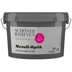 SCHÖNER WOHNEN-Kollektion Wandfarbe Metalloptik Effektfarbe silber, 1 l