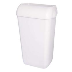 Abfallbehälter, Papierkorb, Mülleimer ABS weiß ~ 25 Liter