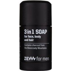 Zew For Men natürliche feste Seife für Gesicht, Körper und Haare 3in1 85 ml