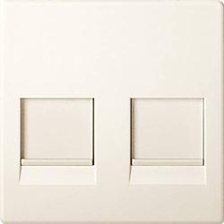 Merten 2fach Abdeckung Netzwerkdose Weiß MEG4562-0344
