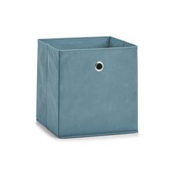 Zeller Aufbewahrungsbox in rauchblau, 28 x 28