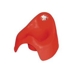 Lorelli Töpfchen Töpfchen, aus unbedenklichem Kunststoff, Spritzschutz, leicht zu reinigen rot