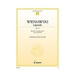 Légende  op. 17. Violine und Klavier - Buch