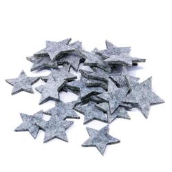 Filzdeko Sterne Weihnachtsdekoration in der Farbe grau 24 Stück