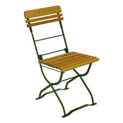 Balkonstuhl aus Robinie Massivholz und Stahl klappbar (2er Set)