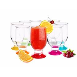 Sendez Gläser-Set 6er Gläser 270ml Bunte Gläser Wassergläser Saftgläser Trinkgläser Whiskygläser