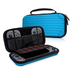MyGadget Zubehör Tasche aus Aluminium für Nintendo Switch Zubehör Nintendo