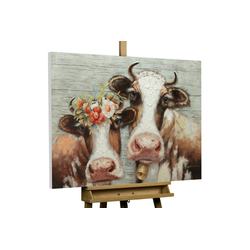 KUNSTLOFT Gemälde Almköniginnen, handgemaltes Bild auf Leinwand