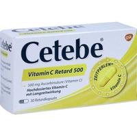Cetebe Vitamin C retard 500 mg Kapseln 30 St.