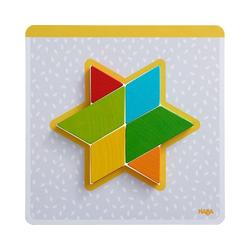 Haba Puzzle Holzpuzzle Bunte Formen, Puzzleteile