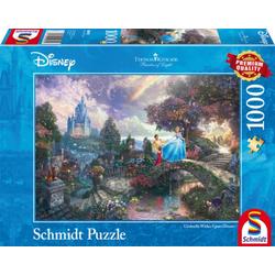 Schmidt Spiele Puzzle Thomas Kinkade Disney Cinderella 1000 Teile Puzzle, Puzzleteile bunt