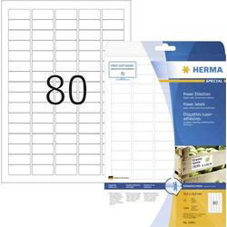 Herma 10901 Etiketten 35.6 x 16.9mm Papier Weiß 2000 St. Permanent Kraftkleber-Etiketten, Universal