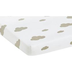 Spannbettlaken Wölkchen, Pinolino®, im 2-er Pack weiß