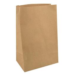 Blockbodenbeutel Papierbeutel Kraftpapier 29,5 x 19 x 12 cm braun, 250 Stk.
