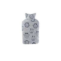Hugo Frosch Wärmflasche, Kinder Öko-Wärmflasche 0,8 L mit Sweatbezug Lachgeister