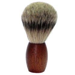 Golddachs Rasierpinsel Zedernholz mit Zupfhaar