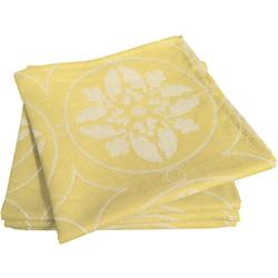 Stoffserviette, Romantic Puligny Light, Adam gelb Stoffservietten Tischwäsche Serviette