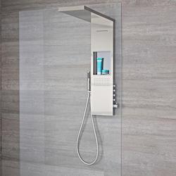 Duschpaneel Regendusche mit Wasserfall, Ablage & 4 Funktionen 1030 x 800mm - Iko, von Hudson Reed