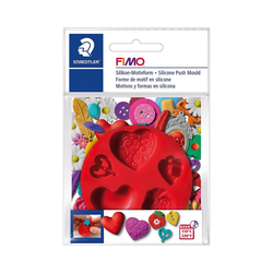 FIMO Knete FIMO Silikon Motivform Herzen