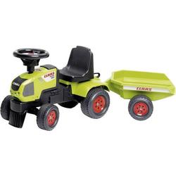 Falk Claas Traktorrutscher mit Anhänger Rutschauto Claas Grün mit Anhänger