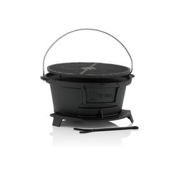 BBQ-Toro Campingtisch BBQ-Toro Gusseisen Grilltopf mit Grillrost, 32 x 33 x 18 cm, Hibachi Style