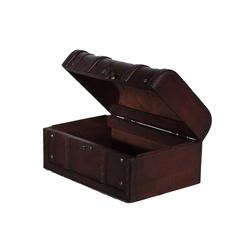 BIRENDY Dekoobjekt Truhe HD 86002-S Kiste Geschenkbox Kiste Holztruhe 30cm