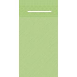 Mank UNI Pocket-Napkins Besteckservierttentasche, 40 x 40 cm, 1/8 Falz, 4-lagig, Farbe: kiwi, 1 Karton = 4 x 75 Stück = 300 Serviettentaschen