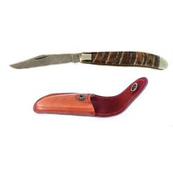 """Robert Klaas Taschenmesser Taschenmesser """"Trapper"""", einteilig, Griffschalen Mammutbackenzahn"""