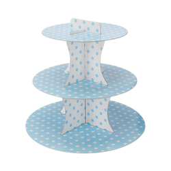 Happy People Etagere Muffinetagere Punkte gelb blau
