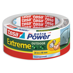 tesa extra Power Klebeband Extreme 20 m x 48 mm, transparent