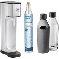 My Sodapop Wassersprudler Joy Prestige Silber inkl. 2 Glasflaschen, und 1 CO2-Zylinder