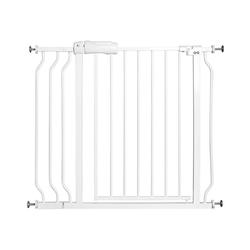 COSTWAY Treppenschutzgitter Absperrgitter Treppengitter Laufgitter weiß 74 cm x 80 cm